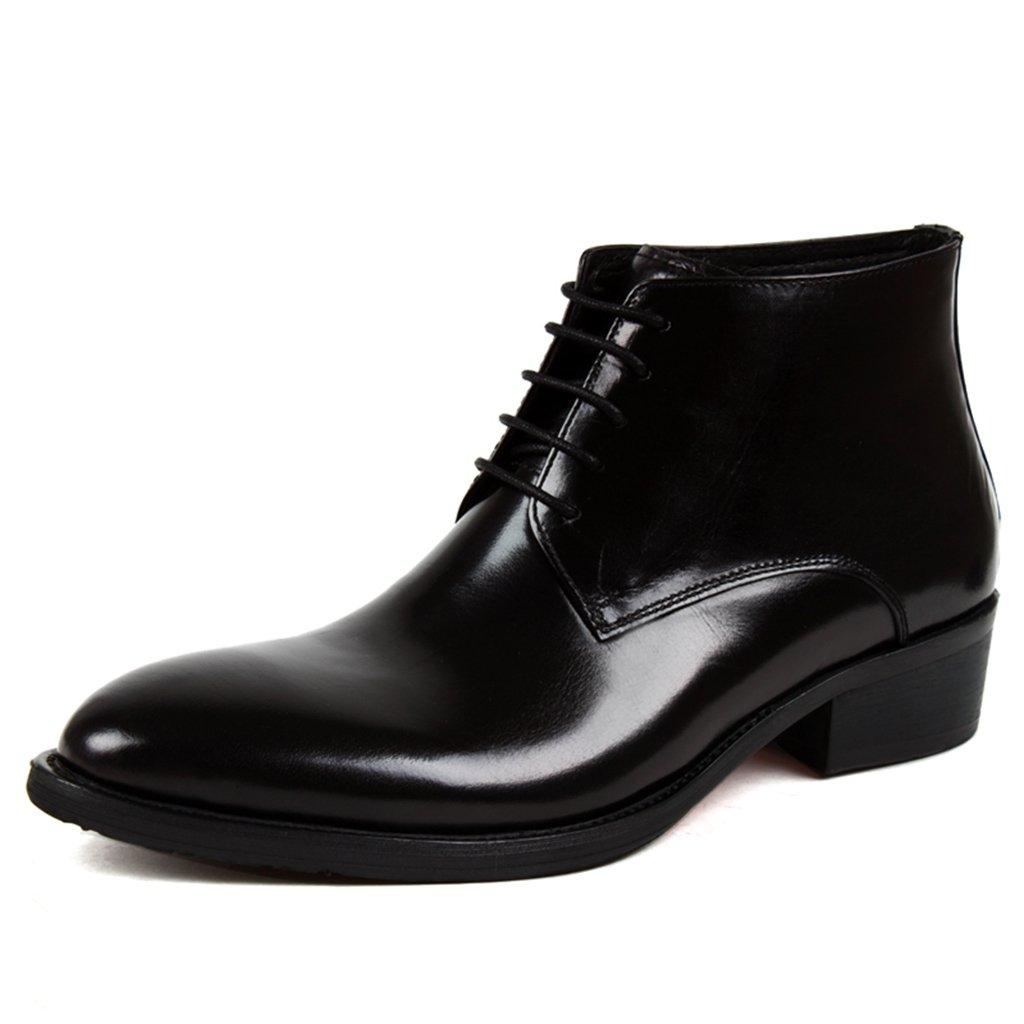 メンズレザーシューズ メンズレザーシューズハイトップシューズショートマーティンアーミーファッションツーリングブーツ ( 色 : ブラック , サイズ さいず : EU43/UK8 ) B07C12XW8W EU43/UK8|ブラック ブラック EU43/UK8