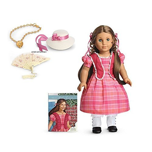 American Girl Retiring Marie-Grace Gift Set, 18-inch Doll with Book and 3-piece Accessory Gift Set