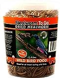 Unipet USA LLC WB300 Mealworm to Go Dried Wild Bird Food, 6.5 oz