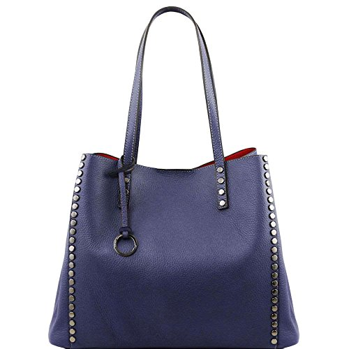 TUSCANY LEATHER, Borsa a spalla donna Blu blu Taille Unique