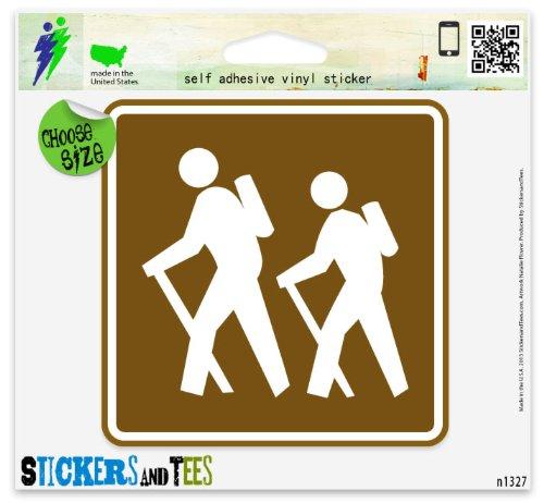 Hiking Trail Sign Outdoor Nature Vinyl Car Bumper Window Sticker