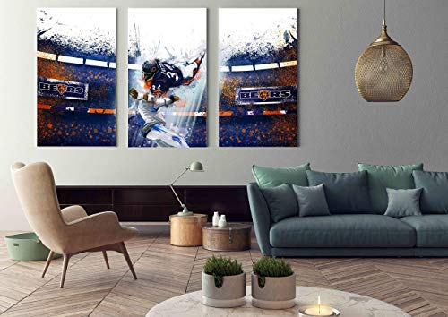 The Chicago Bears Walter Payton NFL team on canvas
