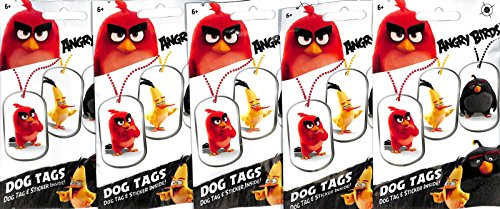Angry Birds Dog Tags - 2016 Angry Birds Movie Collectible Dog Tag Necklace Sticker Surprise 100 Packs