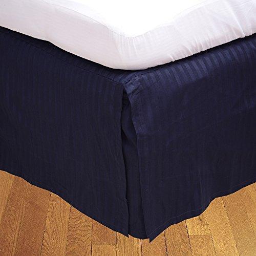 Finition élégante LaxLinens 550 fils 1 jupe plissée chute de lit Longueur    15 cm Euro King Bleu 100%  coton MARINE
