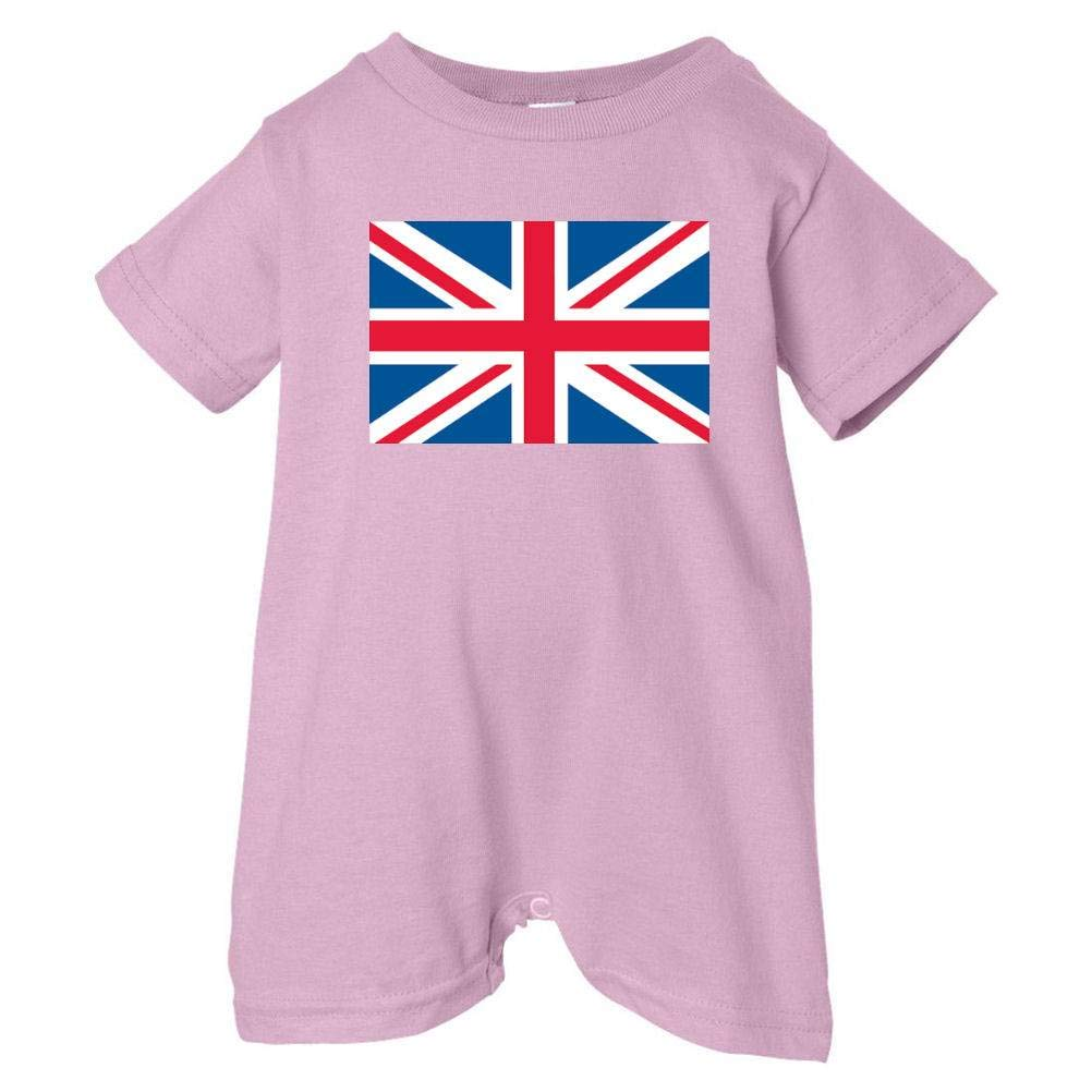 Mashed Clothing Unisex Baby British Flag T-Shirt Romper Pink, 18 Months