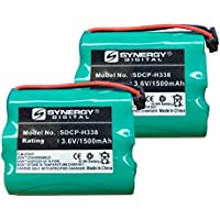 Panasonic KX-TG2583S Cordless Phone Battery Combo-Pack Includes: 2 x SDCP-H338 Batteries