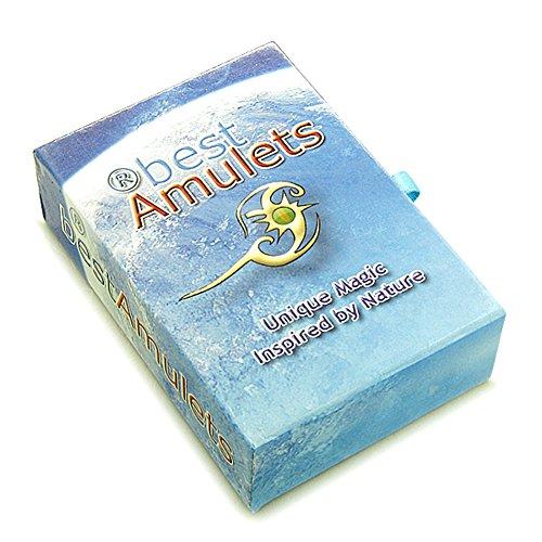 Celtic Shield Loup Paw Nœud Amulette magique Tag Vert à quartz Pierre précieuse réglable Bracelet cuir Marron