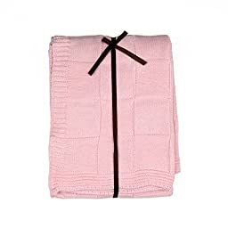 Baby\'s Soft Cotton Knit Receiving Blanket - Pink