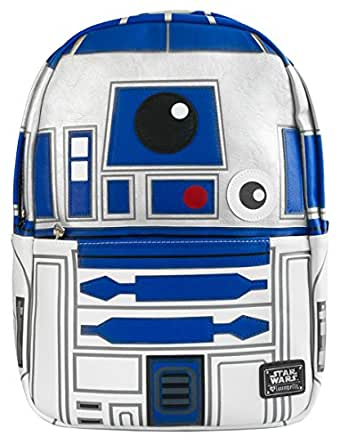 Loungefly unisex-adult Star Wars R2D2 Faux Leather Backpack Standard