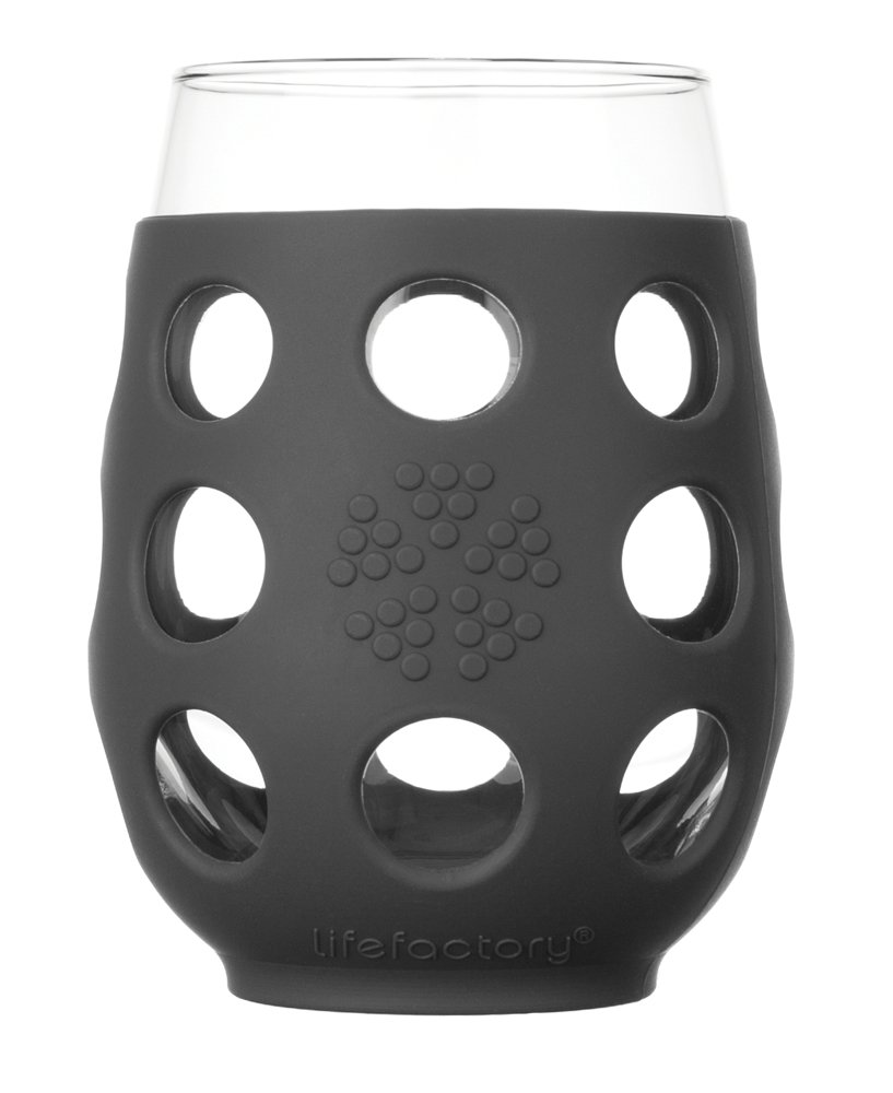 Lifefactory - Copa de Vino, Cristal, 473 ML, 2 Piezas, Vidrio, Multicolor, 4-Piece LF310500C4