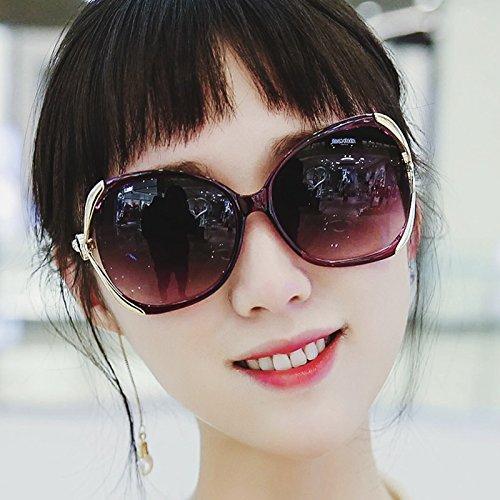 nouvelle couleur star des modèles de lunettes de soleil les lunettes la marée des lunettes de soleil madame le visage rond les yeux ronds korean rétrobright black (tissu) Iom0nKpGed