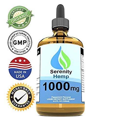 Serenity Hemp Oil - 4 fl oz 1000 mg (Peppermint) - Certified Organic - Relief for Stress, Inflammation, Pain, Sleep, Anxiety, Depression, Nausea - Rich in Vitamin E, Vitamin B, Omega 3,6,9 and More! by Serenity Hemp Company (Image #2)