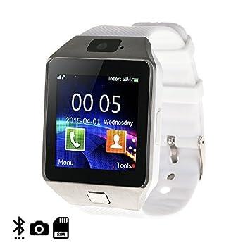 DAM - Smartwatch Ártemis Bt White. Cámara de fotos. Admite tarjeta SIM y Micro SD de hasta 32GB. mensajería, registro de llamadas, marcador bluetooth ...