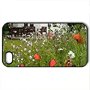 spring garden - Case Cover for iPhone 4 and 4s (Houses Series, Watercolor style, Black) by icecream design