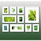 L&QQ Contemporary Gallery White Collage Wall Picture Frames, Set of 10
