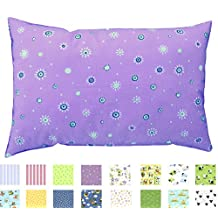 100% Cotton TODDLER PILLOWCASE - Envelope Style - Soft Percale - 200 Thread Count - MADE IN THE USA (Daisies)