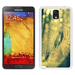 NEW Custom Designed For SamSung Galaxy S5 Case Cover Phone With Spider Web Sun Light_White Phone