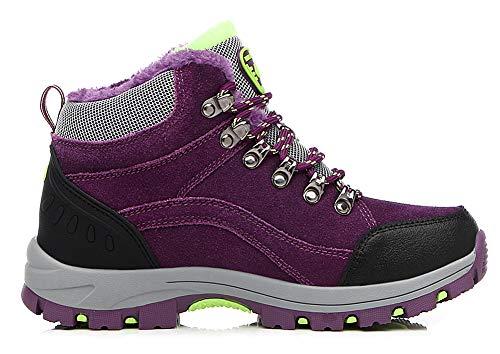 Aitaobao Impermeabili 35 Scarpe Donna Escursionismo da Sneakers Outdoor Viola Stivali 44 Inverno Trekking Neve Uomo BwRBrz