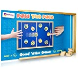 Pass The Face Emoticon Wooden Board Game. Great Fast Paced and Dexterity Game. with Lid to Prevent Pucks Loss. Great Gift to Any Dexterity Games Fan.