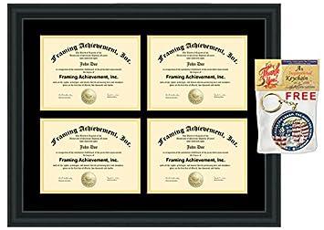 amazon com four university diploma frame holder 4 certificate