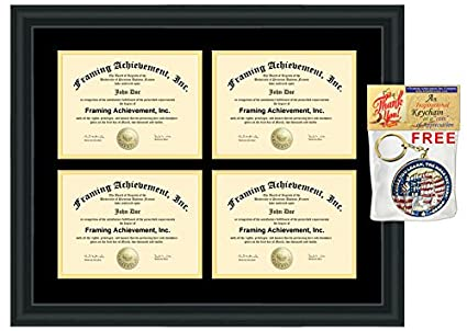 Amazoncom Four University Diploma Frame Holder 4 Certificate