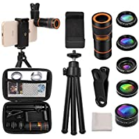 Cell Phone Camera Lens Kit, OUNUO 6 in 1 Kit 12X Zoom...