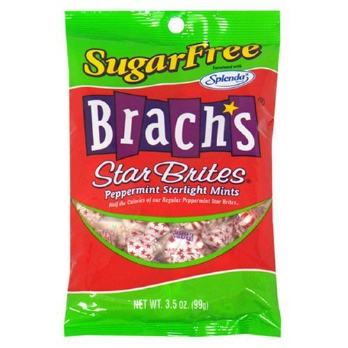 Brach's Sugar Free Star Brites Peppermints, 3.5-Ounce Bags (Pack of 36)