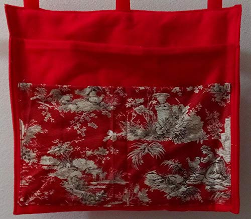 Inspiration Toile Red Bag Pouch Storage Walker Wheelchair Stroller Grocery Cart etc. from Craft and Sewing Box