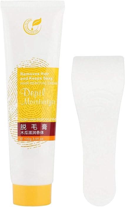 Crema depilatoria para el cabello, Crema depilatoria corporal 100 g Unisex para axilas Brazos Piernas Eliminación indolora Pasta depilatoria Particularmente popular en verano: Amazon.es: Belleza