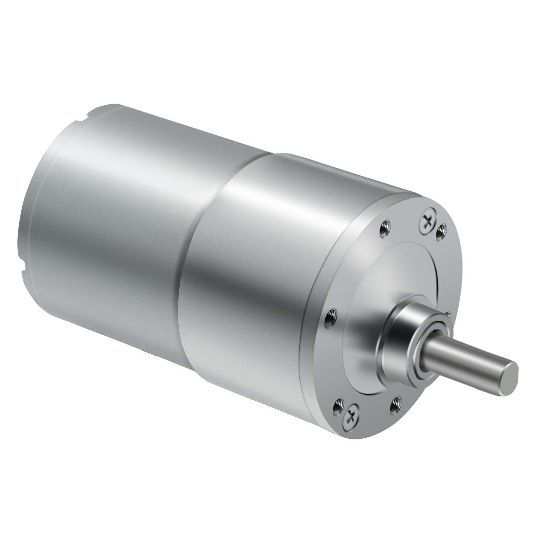 LMioEtool DC Electric Gear Motor Eccentric Output Shaft 37mm Diameter High Torque Reversible Mini Speed Reduction Geared Motor 24V//1000RPM with Metal Reducer Gearbox