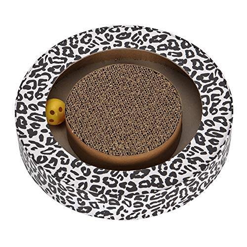 Gathing Pet - Cat Scratching Pads with Ball Environmentally Friendly and Non-Toxic Corrugated Paper for Kitten Lovely and Funny Cat Toy Pet Scratching Posts Round 11.8''11.8''2.2'' (Balls Toy Cat Slotted)