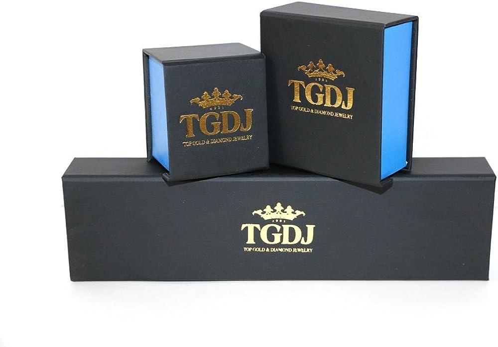 TGDJ 14K Solid Genuine White Gold 0.8 mm Box Chain Necklace
