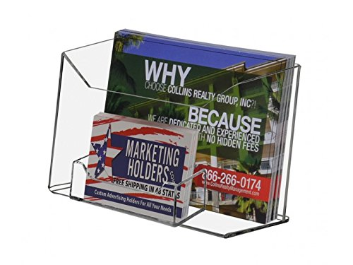 Wall Postcard - Marketing Holders Clear Acrylic Counter top Postcard Holder With Business Card Attachment (Pack of 1)
