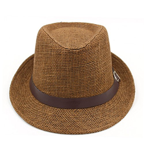 Korean version of outdoor sun hat/Couple Cap/British men and women casual sun hat/Jazz hats/ Tide spring and summer straw hat-A One Size
