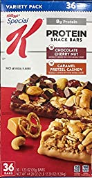 Kellogg\'s Special K Protein Snack Bars - 36 Count - Value Pack - Caramel Pretzel Cashew&Choco Cherry Nut