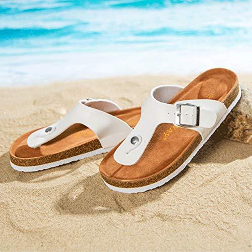 Piatto Vacanza Ciabatte Daytwork Bianco Da Antiscivolo Spiaggia Estate Pantofola Piscina Scarpe Donna Infradito Casual Per Sandali wq0U16wT