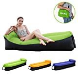 Inflatable Lounger Inflatable Chair Air lounger Air Chair Air Sofa Air Couch with Portable Storage Bag Wonderful Gift for Camping, Hiking, Swimming, Pool and Beach (Green sofa)