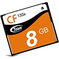 Team Compact Flash Memory Card 8GB 133x Sequential Read up to 22MB/s - TG008G2NCFF (8GB)