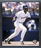 """Fred McGriff San Diego Padres MLB Action Photo (Size: 17"""" x 21"""") Framed"""