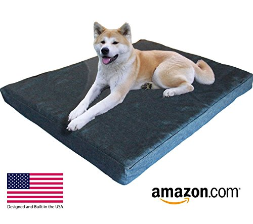 Pet Support Systems | XXL Magnetic Orthopedic Gel Memory Foam Dog Bed – 55″ x 37″ x 4.5″ – USA MADE, Best Luxury Large Breed Washable Bed You Can Buy, (Chocolate Micro-suede) Review
