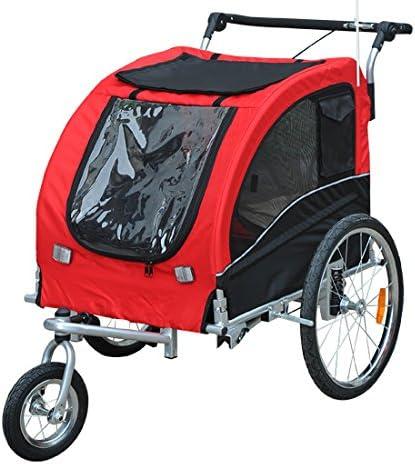 HOMCOM Remolque para Perros Carro para Bicicleta con Kit de ...