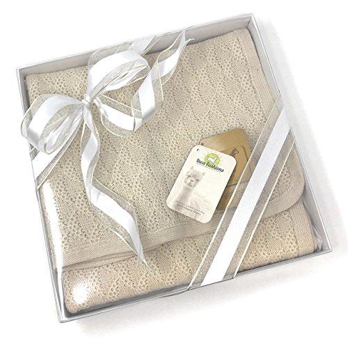 - Baby Blanket & Lap Throw,100% Baby Alpaca Wool, Unisex, Hypoallergenic, Dye Free, Pure & Natural (Cream)