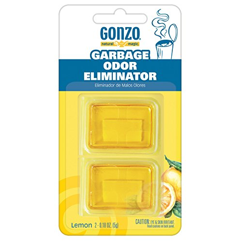 Gonzo Natural Magic Garbage Odor Eliminator - Lemon Fragrance - Absorbs and Eliminates Odors in Your Home - 2 Adhesive Gels