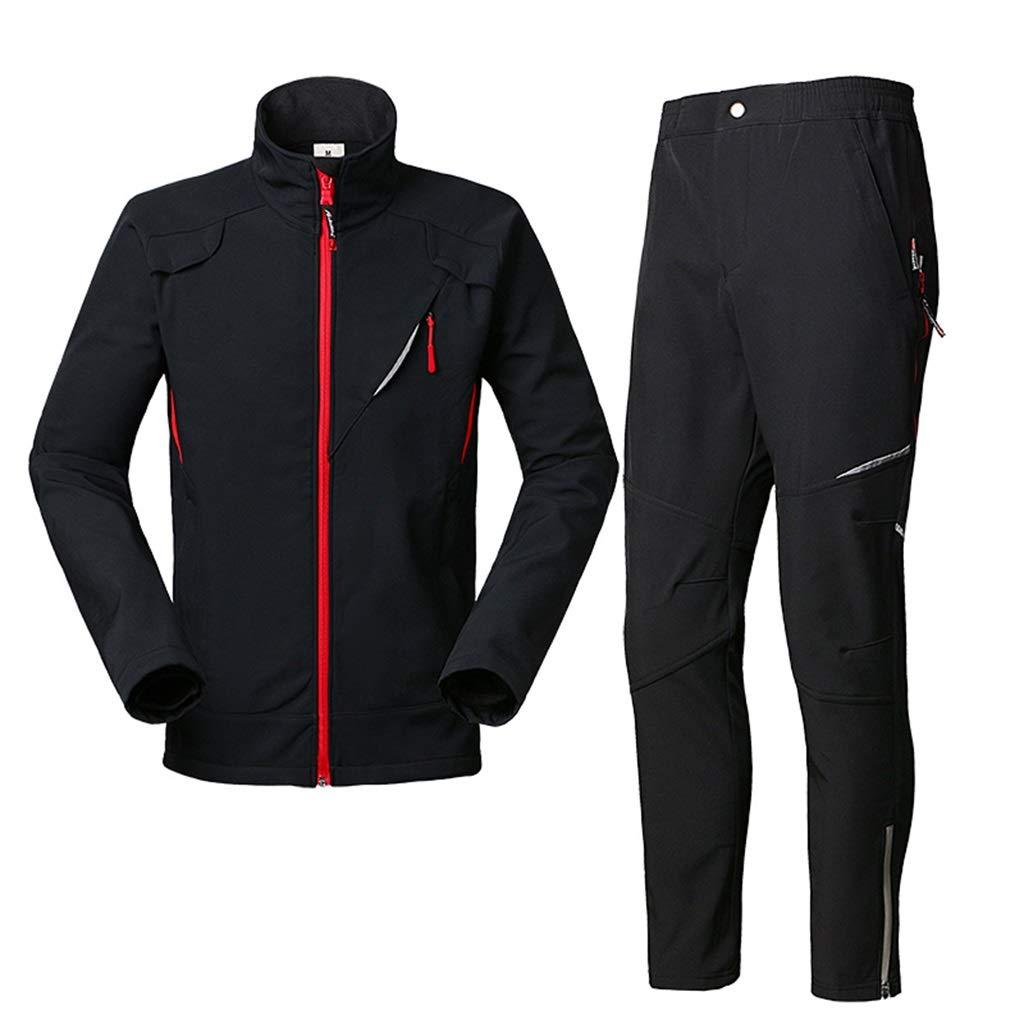 Stylish Rain Suit Windproof Waterproof Raincoats Unisex Warm Rainwear Reusable Raincoat for Hiking/Mountaineering (Jacket and Trousers Set)