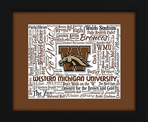 - Western Michigan University (WMU) 16x20 Art Piece - Beautifully matted and framed behind glass