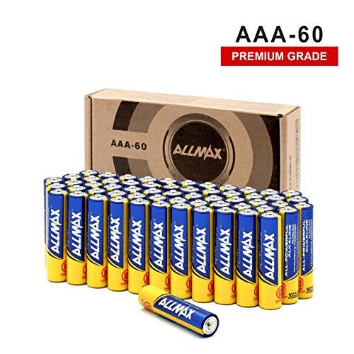ALLMAX All-Powerful Alkaline Batteries-AAA (60-Pack)-Premium Grade-Ultra Long Lasting and Leak-Proof, Powered by EnergyCircle
