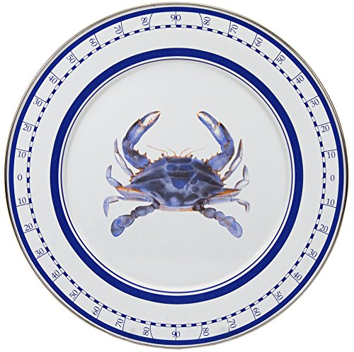 Enamelware - Blue Crab Pattern - 12.5