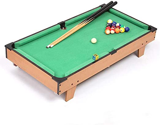 Zavddy Juego de Billar de Mesa De Mesa en Miniatura Pool Juego Set for Adultos niños Mini-Piscina Mesa de Billar de Mesa Juguete Mini Mesa de Billar (Color, Size : 69x37x22cm): Amazon.es: