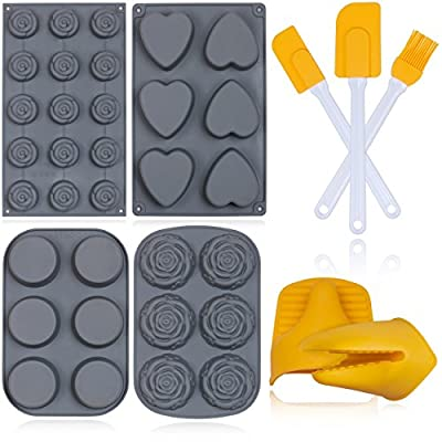Pashosh Cookware Silicone Baking Molds Set - 9 Piece