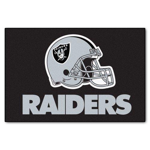 FANMATS NFL Oakland Raiders Nylon Face Starter Rug